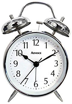 Geneva/Advance Clock 2080AT QA Twin Bell Alarm Clock