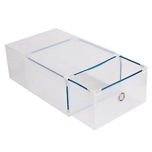 fibgihc - 1 cajón de Metal Tipo cajón para Zapatos, contenedor de Almacenamiento (6 Colores Disponibles), Blanco, 30 * 18.5...