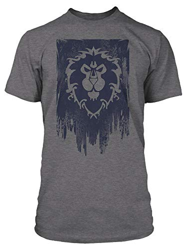 JINX World of Warcraft Alliance Banner Men's Gamer Graphic T-Shirt