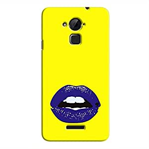 Cover it up Purple Lips Hard Case for Coolpad Note 3 - Multi Color