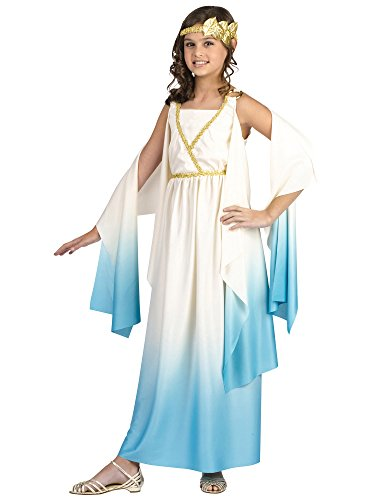 Greek Goddess Child Costume Size Medium (8-10) Beige (Costume Artemis)