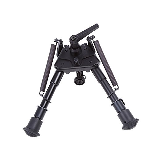 3 Sizes Hunting Bipod Aluminum Alloy Extendable Tactical Bipod Swivel Pivot Tiltable Bipod With Sling Mount Quick Detach Rail Mount Adapter(#1) ()