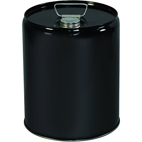 BOX USA BHAZ1077 Metal Pail, Closed Head, 5 Gallon, Black (Pack of 1 ()