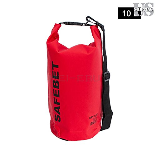 10L Waterproof Pouch Dry Bag for Kayaking Canoeing Rafting Camping Floating Red
