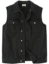 Blues Men's Big & Tall Button Front Cotton Denim Vest