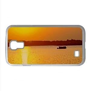 Beach Scene Sunrise 3 Watercolor style Cover Samsung Galaxy S4 I9500 Case (Sun & Sky Watercolor style Cover Samsung Galaxy S4 I9500 Case)