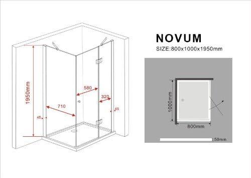 Glasdeals Nova - Cabina de ducha de cristal (separación 8 mm, 100 ...