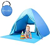 Wilwolfer Pop Up Baby Beach Tent Sun Shelter Portable UV Protection Shade Cabana Canopy for Outdoor and Indoor