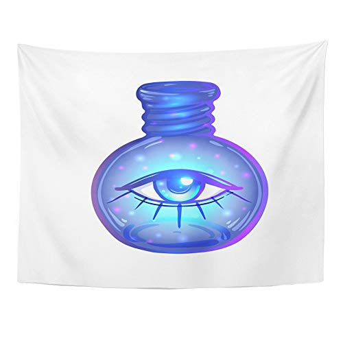 Emvency Tapestry Wall Hanging Magic Potion Blue Bottle