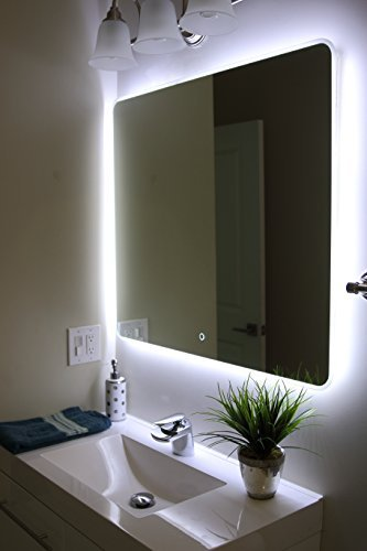 Amazon.com: Windbay Backlit Led Light Bathroom Vanity Sink Mirror ...