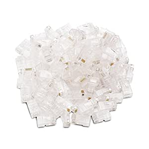 Cable Matters (100-Pack) Cat 6 RJ45 Modular Plugs for Stranded UTP Cable