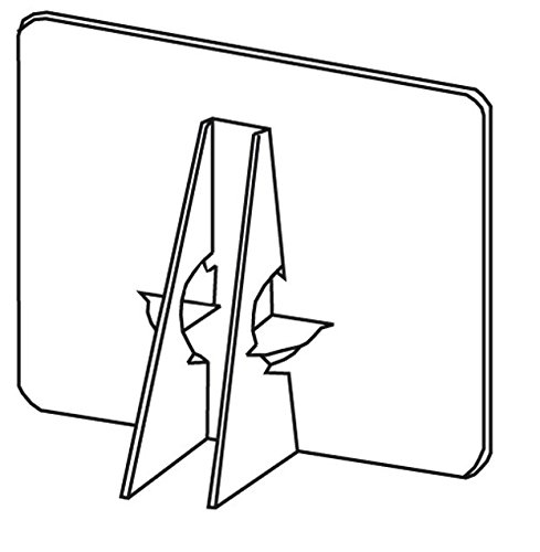 Lineco Single Wing Self-Stick Easel Backs, Size 7'', White, Pack of 50 (Pack of 50) by Lineco