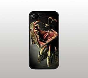 Dinosaur Raptor Hard Snap-On Case for iphone 5c - Black - Velociraptor