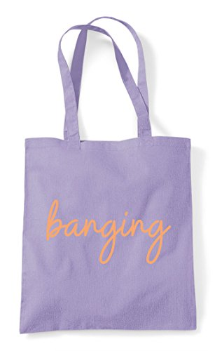Tote Quote Shopper Bag Hashtag Banging Lavender Statement PfnA4qq8