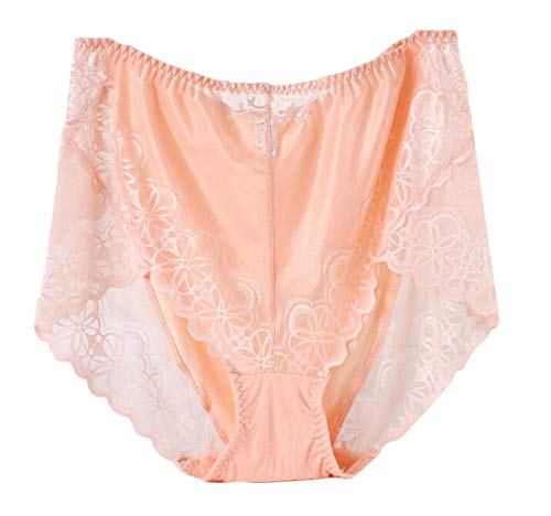 be3ca49baa BYWX Women Lace Modal Plus Size High Waisted Underwear Brief Panties one US  5XL