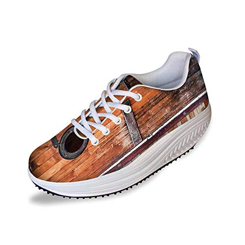 Rustic Stylish Shake Shoes,Photograph of Antique Knotted Pine Wood with Control Window Lumber Nature Design for Women,10 ()