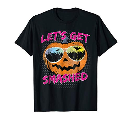 Let's Get Smashed Pumpkin Halloween Drinking T-Shirt