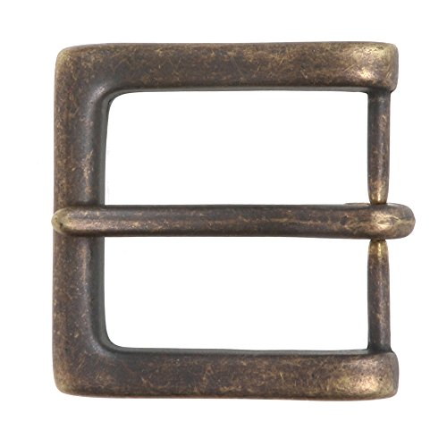 1 1 2   38 Mm  Nickel Free Single Prong Square Belt Buckle  Antique Brass