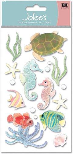 Le Grande Vellum Dimensional Stickers - Nceonshop(TM) Jolee's Boutique Le Grande Dimensional Vellum Sticker Sea Horses VELJLG-006