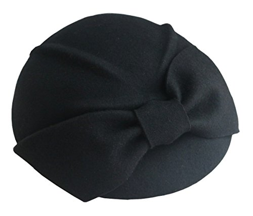 Pillbox Hat Beret Fascinator Cocktail Hat Women Wool Church Wedding Party Hat
