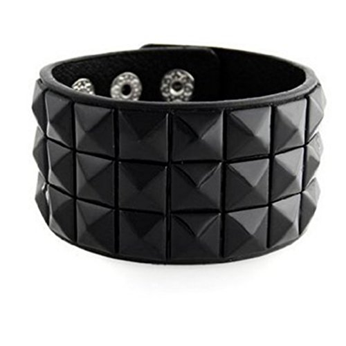 Triple Double Studded Wristband Bracelets product image