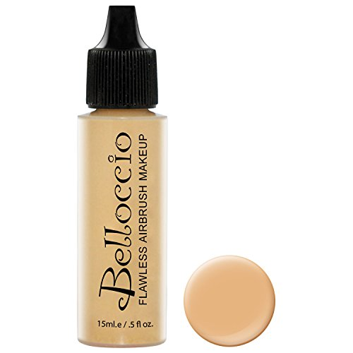 Belloccios Professional Cosmetic Airbrush Makeup Foundation 1/2oz Bottle: Latte- Medium with Golden Undertones