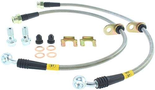 StopTech 04-07 STi And 06-07 WRX Stainless Steel Front Brake Lines (950.47004) ()