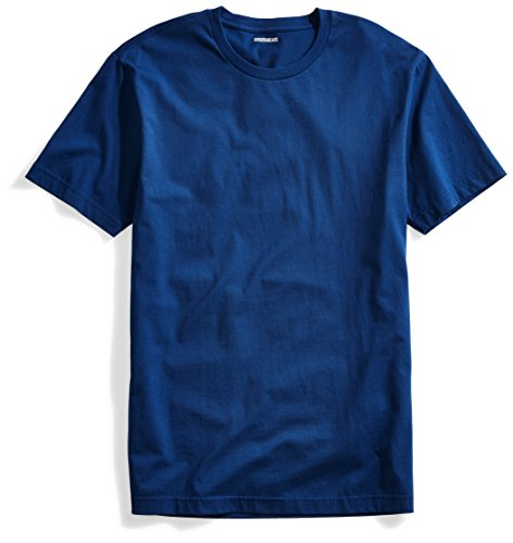 Goodthreads Men's Short-Sleeve Crewneck Cotton T-Shirt, Royal Blue, Large