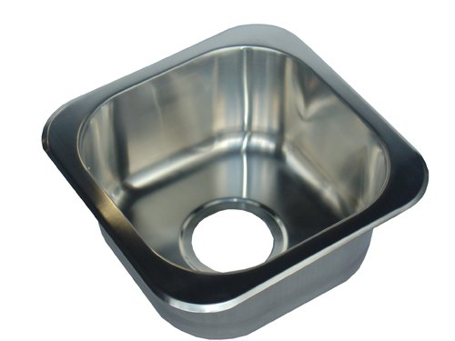 Opella 13209.046 Square Bar Sink, Brushed Stainless Steel