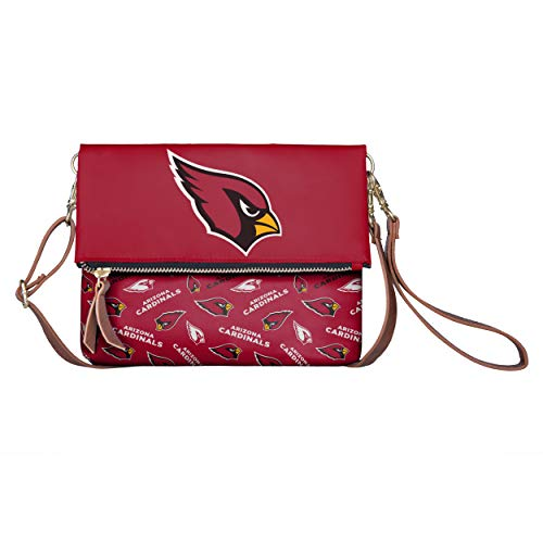 FOCO NFL Arizona Cardinals Womens Printed Collection Foldover Tote Bagprinted Collection Foldover Tote Bag, Team Color, One Size