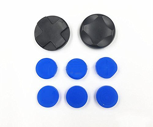 8X Silicone Analog joystick Thumbstick Thumb Cap Grip Cross buttons for Sony PSV PS Vita 1000 2000 Blue