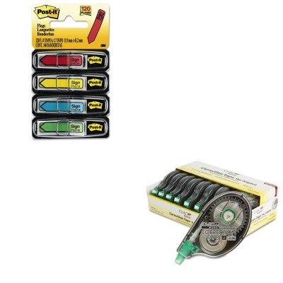 KIT - Value Kit -  MONO Correction Tape (TOM68720) and Post-it Arrow Message 1/2amp;quot; Flags (MMM684SH) - Tombow MMM684SHTOM68720