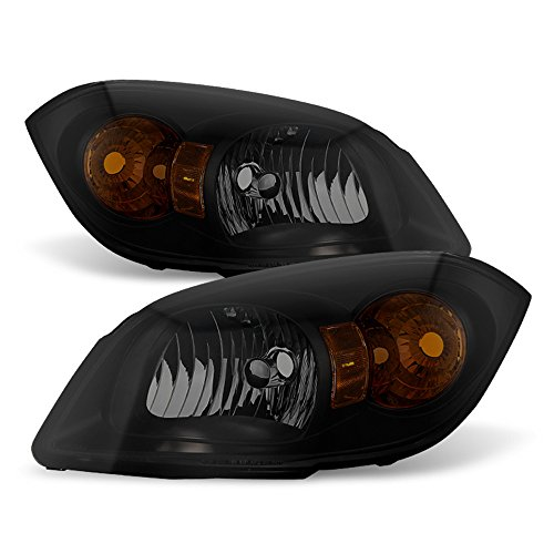 ACANII - For 2005-2010 Cobalt 2007-10 Pontiac G5 05-06 Pursuit Black Smoke Headlights HeadLamps Driver + Passenger Side