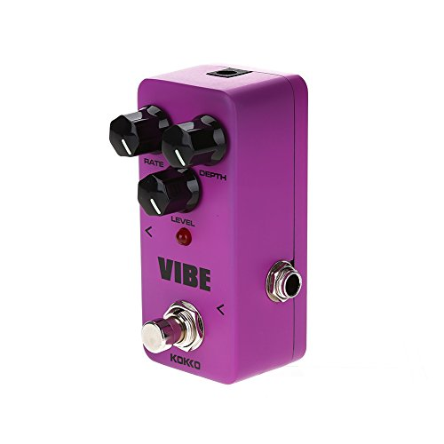 Vibe Guitar Pedal Mini Portable Effect Pedal for Electric Guitar True Bypass Full Metal Shell Pedal by Vbestlife (Image #3)