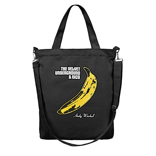 Canvas Tote Bag The Velvet Underground Andy Warhol Shoulder Craft Tote Bags Extra Durability Grocery Handbag