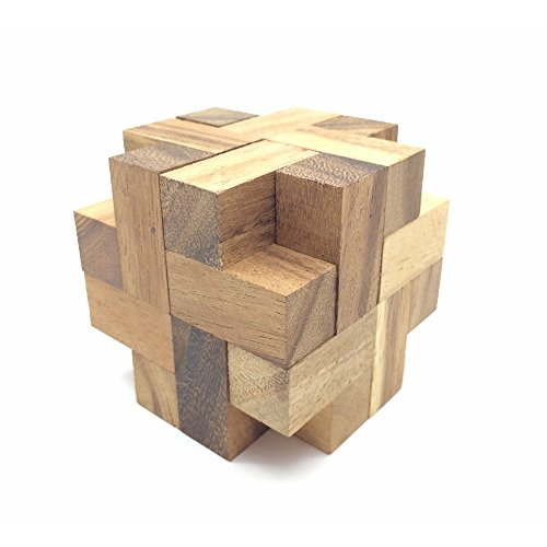 BRAIN GAMES Propeller Cube Wooden Puzzle
