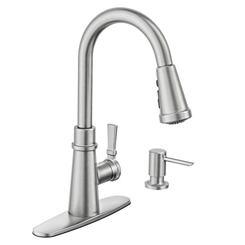 Tullis Spot Resist Stainless 1-Handle Pull-down Kitchen Faucet Powerboost Technology