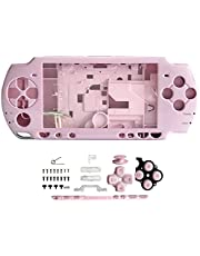 OSTENT Full Housing Shell Faceplate Case Parts Replacement Compatible for Sony PSP 2000 Console Color Pink