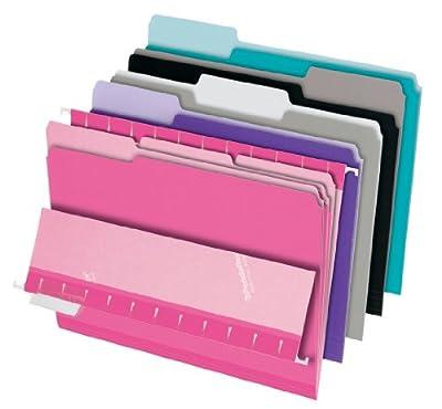 Pendaflex 1/3 Cut Top Tab Pastel Interior File Folders 100 Pack (421013ASST2)