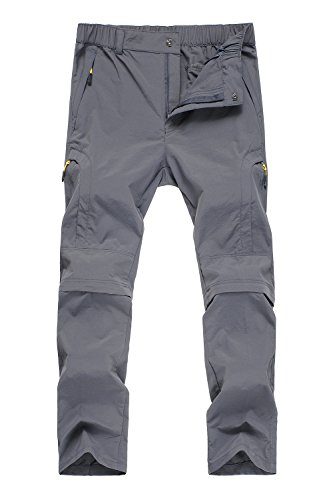 Mr.Stream Men's Hiking Breathable Quick Drying Outdoor Sports Convertible Pants 3X-Large Gray