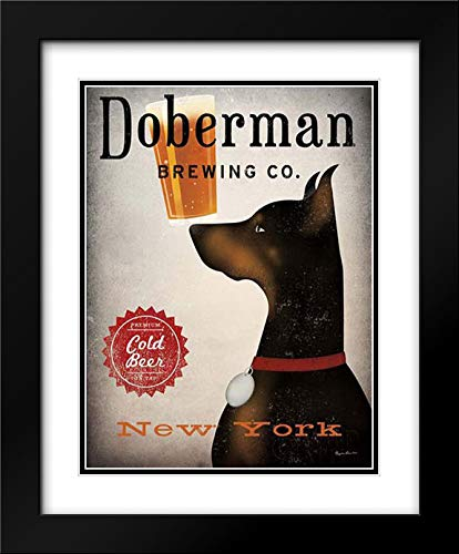 Doberman Brewing Company NY 15x18 Black Modern Frame and Double Matted Art Print by Fowler, Ryan (Ny Doberman)
