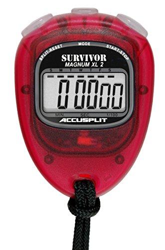 Accusplit Survivor Stopwatch - Accusplit New Survivor 2 -Cherry New Survivor SX 2 Series Stopwatch