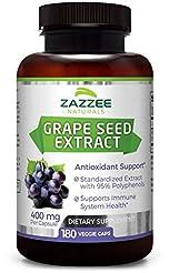 Zazzee Grape Seed Extract, 180 Veggie Ca...