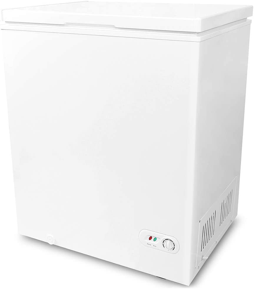 Northair Chest Freezer 5.0 Cubic Feet with Removable Basket Free-Standing Top Open Door Freezers -4℉ to 6.8℉ Adjustable Temperature/Front Defrost Water Drain/Energy-saving/UL Certified