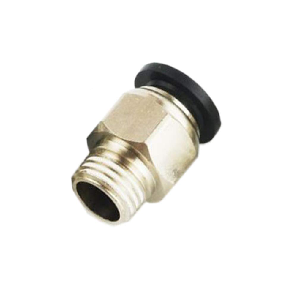 JJDD PC6-03 Pneumatic Push in Joint Quick Connect Fittings,Straight Quick Tube Connector,Cylinder Quick Insertion Air Pipe Connector Suitable for Industry Automatic,10 PCS