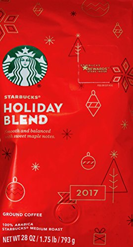 Starbucks Holiday Blend 2017 Ground Coffee Medium Roast, 28 OZ