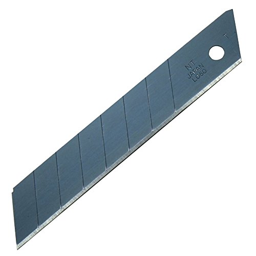 NT Cutter 18mm Heavy-duty Ex tra-Sharp Black Snap-Off Blades, 50-Blade/Pack, 1 Pack (BL-51P) ()