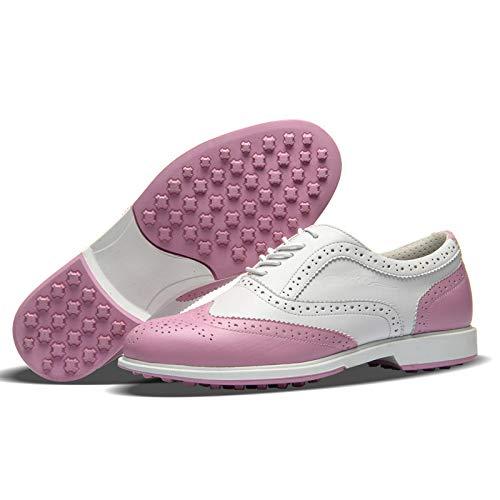 新しいゴルフシューズ女性の防水透湿靴ゴルフ柔らかい下固定スパイク靴のファッションのスポーツの婦人靴   B07RX8933D