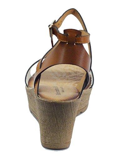Mercante di Fiori Omk 45423 Pelle Bianco Cuoio - Sandalias de vestir de Piel para mujer Bianco Cuoio