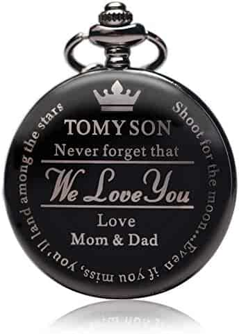 Pocket Watch Gift for Son,to My Son | Pocket Watch Gifts for Son from Mom & Dad for Christmas, Valentines Day, Birthday